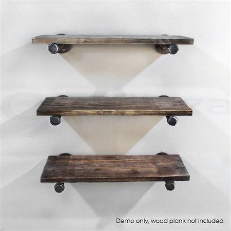 industrial shelf brackets rustic vintage mount bracket set industrial diy pipe shelf