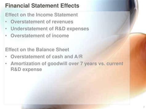 financial statement effects ppt lernout hauspie powerpoint presentation id 3302486