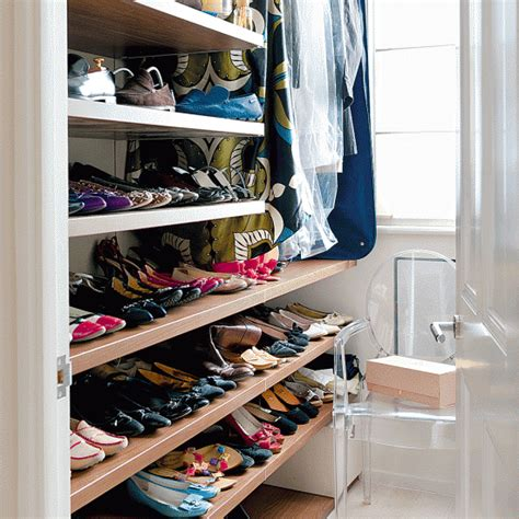 dressing room  shoe storage storage idea