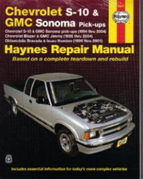 car owners manuals free downloads 1997 gmc sonoma club coupe auto manual chevrolet gmc s 10 sonoma haynes pick up truck repair manual 1994 2004