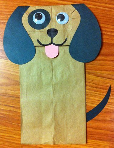 crafts actvities and worksheets for preschool toddler and 280 | paper bag dog craft