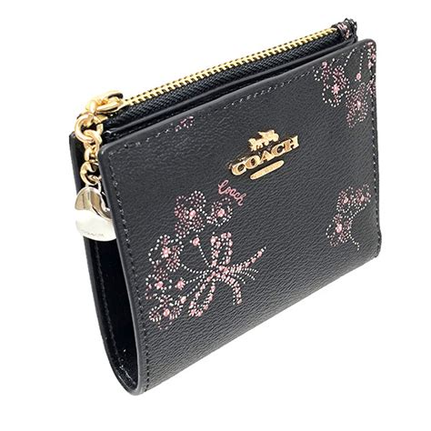 Coach snap patternless bags & handbags for women. SpreeSuki - Coach Wallet In Gift Box Small Wallet Snap Card Case With Ribbon Bouquet Print Black ...