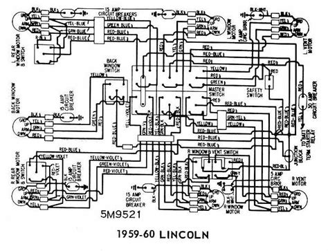 1959 Lincoln Wiring Diagram lincoln 1959 1960 windows wiring diagram all about