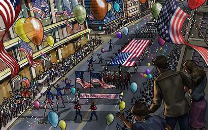 Usa Independence Wallpapers Desktop Parade July 4th