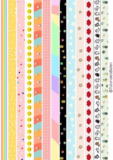 cintas washi tape  imprimir papeleria bonita casera