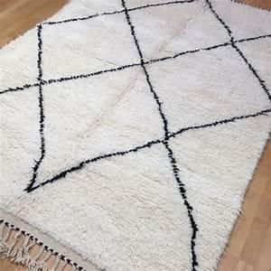 Beni Ourain Teppich : 14984 beni ourain 230 x 170 cm berber teppich marokko weiss schwarz ~ Sanjose-hotels-ca.com Haus und Dekorationen
