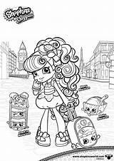 Coloring Shoppies Macaron Shopkins Printable Macy Elegant Macaroon Adults Template Albanysinsanity sketch template