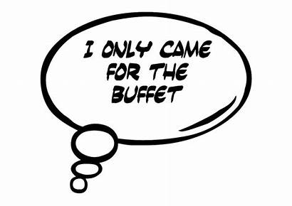 Bubble Thought Came Booth Buffet Props Prop