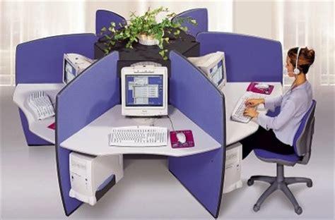 bureau partage bureau partage forme rosace pour call center