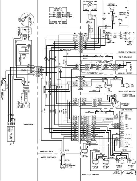 pth153g35a amana refrigerator wiring diagram best site