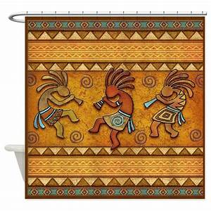 Best Seller Kokopelli Shower Curtain by the jersey shore store