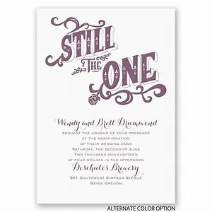 still the one vow renewal invitation invitations by dawn With wedding invitations wording for vow renewal
