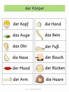 German Word Walls Basic Vocabulary Nmina German