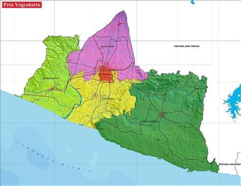 peta yogyakarta diy hd lengkap ukuran besar