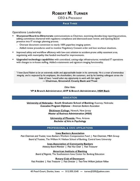 21754 best resume template 3 the 25 best executive resume template ideas on