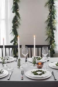 Modern, Christmas, Table, Setting