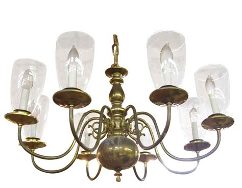 Glass Shades For Chandelier by Williamsburg Chandelier With Glass Shades Olde Things
