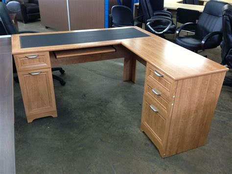 desk l with outlet cool realspace magellan collection l shaped desk