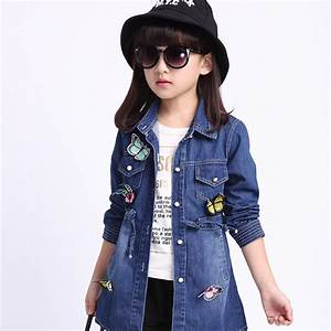 Kids Girls Denim Jacket 2016 Spring New Childrenu0026#39;s ...