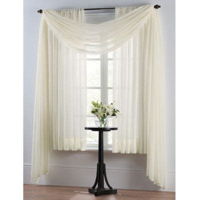 Bed Bath And Beyond Sheer White Curtains by Buy Curtain Panels Sheer From Bed Bath Beyond