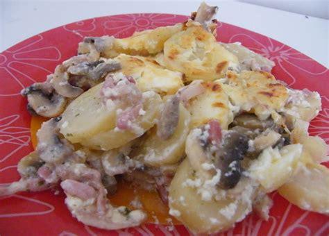 gratin aux pommes de terre chignons et lardons s 232 ve