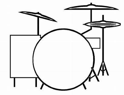 Drum Rock Drawing Roll Coloring Shape Pages