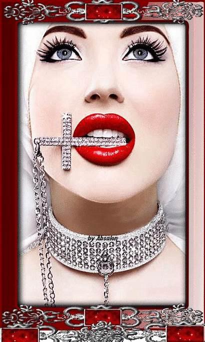 Exotic Lips Lady Luscious Gifs Splash Colour