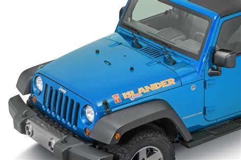 jeep islander decal mopar 68084123aa quot islander quot hood decal for jeep vehicles
