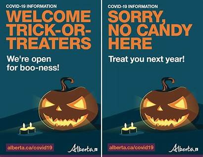 Halloween During Covid Alberta Posters Trick Covid19