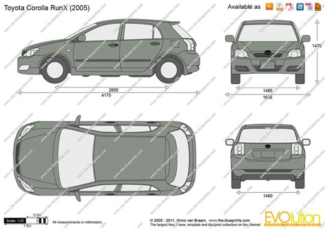 Toyota Corolla Dimensions by Toyota Corolla Hatchback 2004 Dimensions