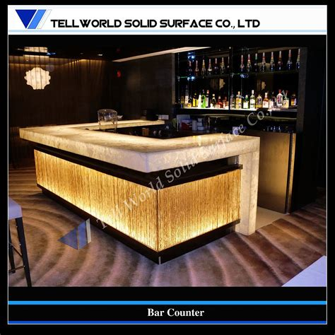 bar counter design china artificial stone solid surface bar counter supplier tell world solid surface co ltd