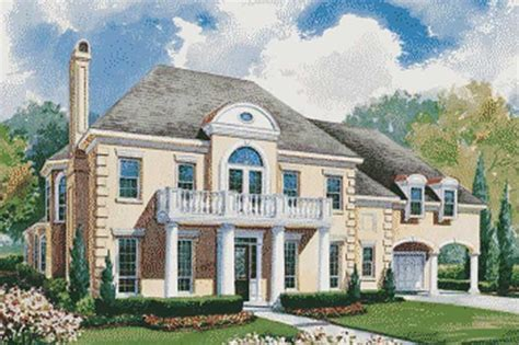 house plan    bedroom  sq ft colonial french home tpc