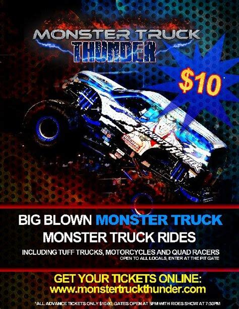 monster truck show tickets prices monster truck thunder tickets