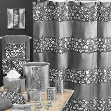 pc silver hollywood glamour bling sequined shower
