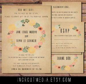 double sided printable vintage rustic retro old With wedding invitation rsvp percentage