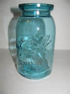 antique 3 l blue ball standard wax seal quart jar 1910 1923