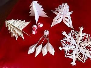 Dcoration De Nol En Papier Origami Ou Kirigami