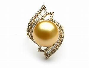 Gold pearl engagement rings meaning black pearl for Black wedding rings meaning