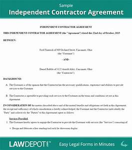 image gallery independent contractor agreement form With 1099 contractor agreement template