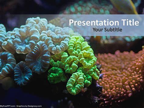 underwater coral reef powerpoint template
