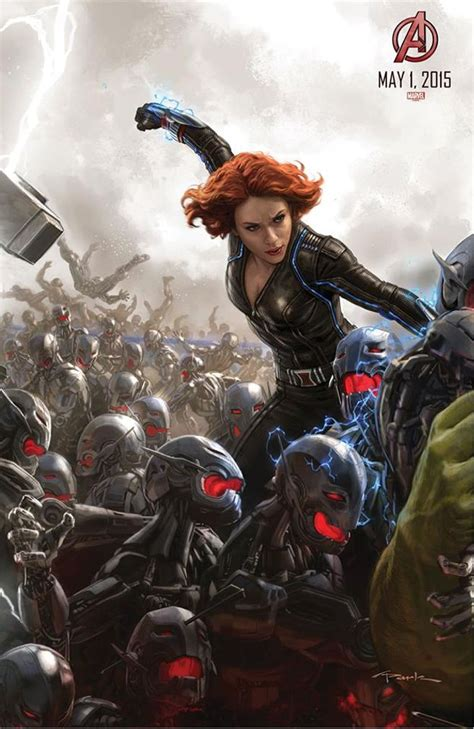 avengers age  ultron concept art shows black widow