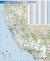 Large detailed road map of California state. California ...