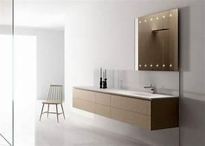 Miroir salle de bain lumineux et eclairage indirect en 50 for Carrelage adhesif salle de bain avec carré led lumineux
