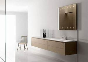 miroir salle de bain lumineux et eclairage indirect en 50 With carrelage adhesif salle de bain avec ruban led bleu