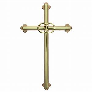 gold wedding cross with gold rings 8 inch the catholic With wedding rings cross