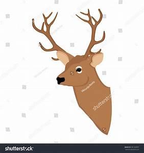 Vector Illustration Deer Head. Forest Animal. Wild Animal ...