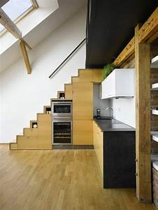 les meubles sous pente solutions creatives With marvelous meuble pour petite cuisine 12 les meubles sous pente solutions creatives archzine fr