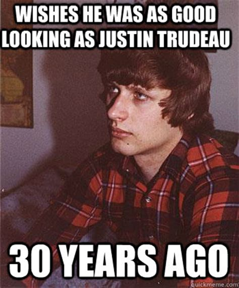 Justin Trudeau Memes - wishes he was as good looking as justin trudeau 30 years ago hipster harper quickmeme
