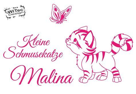 Wandtattoo Kinderzimmer Katze by Wandtattoo Kinderzimmer Katze Schmetterling Name Wandaufkleber