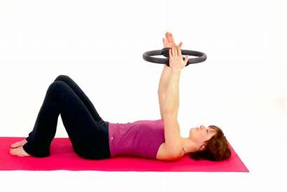 Pilates Circle Exercise Chest Fitness Exercises Shoulder